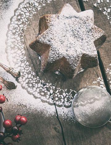 Pandoro artigianale con gocce di cioccolato al cremino
