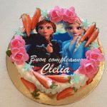 torta con cialda personalizzata