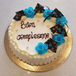 torta di compleanno crema e panna
