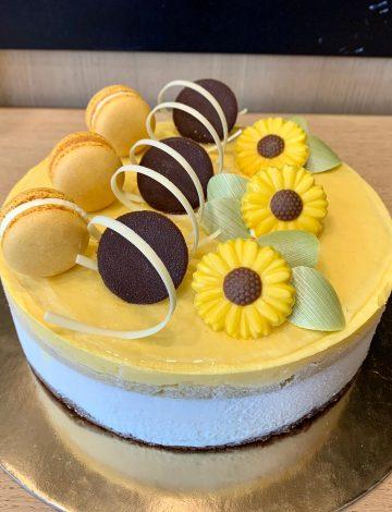 Torta Esotica: mousse mango, cocco e ananas
