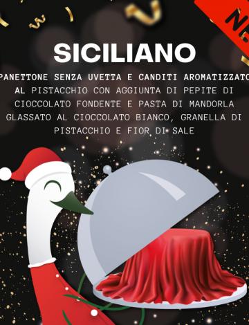 Siciliano: panettone al pistacchio, mandorle e cioccolato