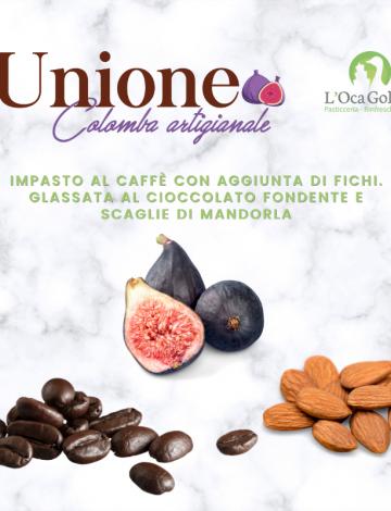 Unione: colomba al caffè con fichi canditi, cioccolato fondente e mandorle