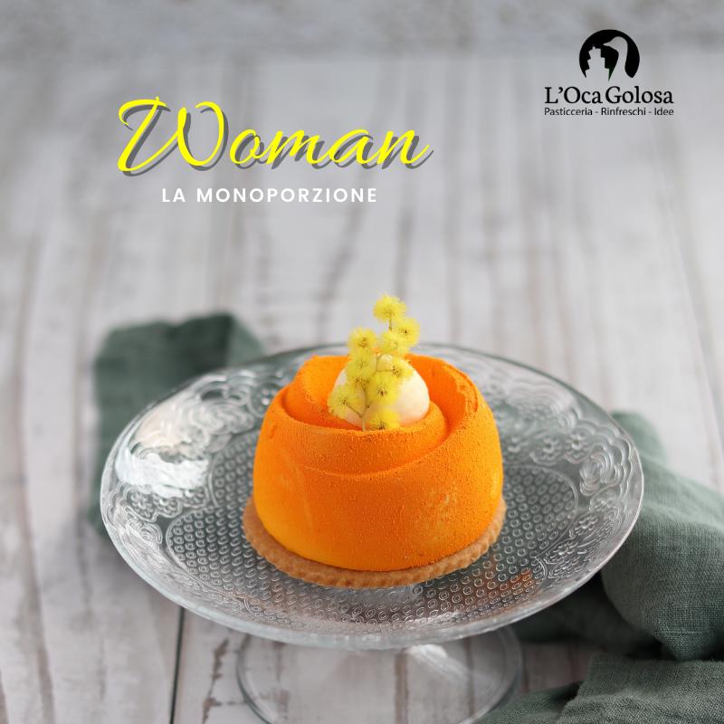 woman monoporzione vaniglia nocciola